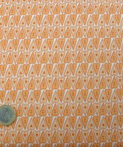 Corazones tonos naranjas