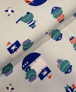 Jersey Katia fabrics Frog Pirates