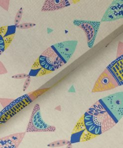 Canvas Katia fabrics Colour Fishes