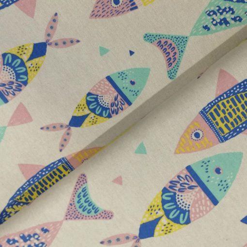 Canvas Katia fabrics Colour Fishes