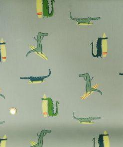 Katia fabrics Surfing Crocodile Waterproof